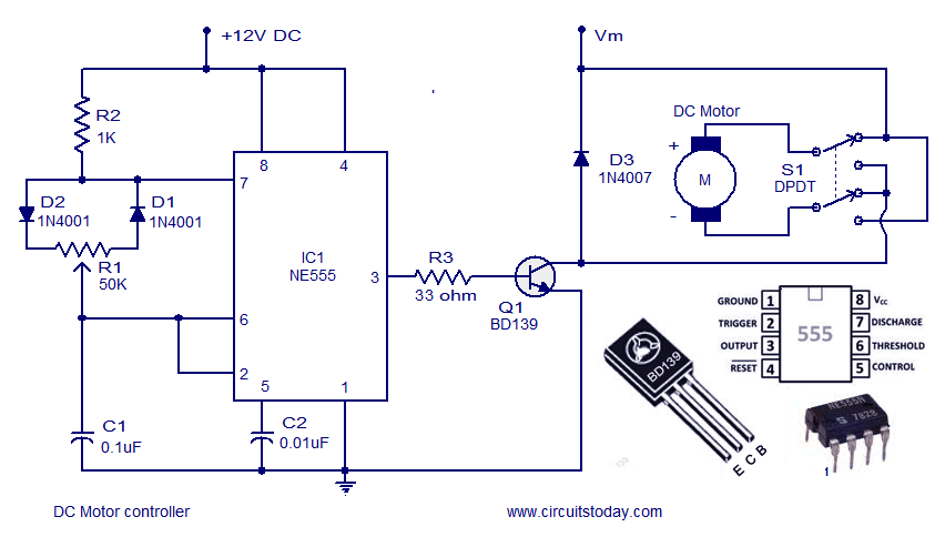 4 pin indicator relay wiring diagram bell system 801 door entry telephone > circuits dc motor speed controller circuit using ne555 l37040 - next.gr