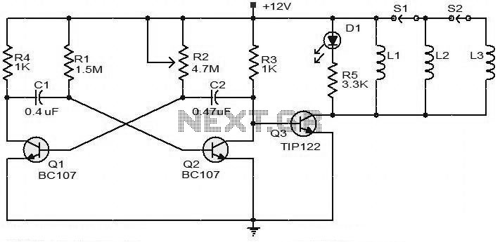 > circuits > BC107 Transistor For 12V Battery Operated