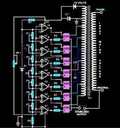 dbw sbw5 automatic voltage stabilizer schematic diagram auto wiring diagram voltage stabilizer circuit diagram electrical wire [ 900 x 900 Pixel ]