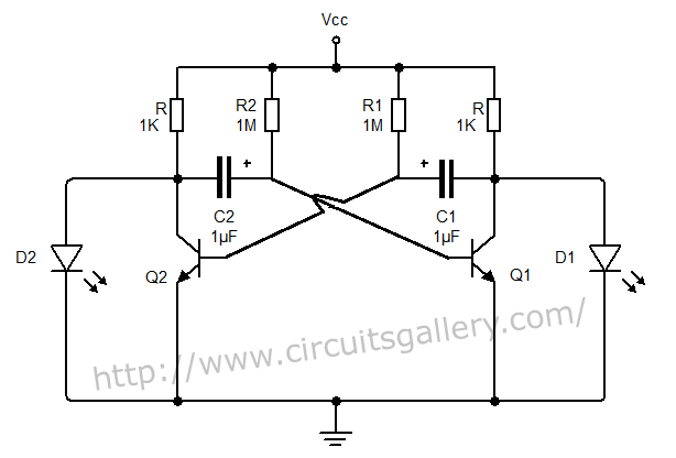 555 astable circuit