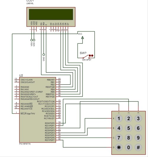 small resolution of pic microcontroller based electronic lock
