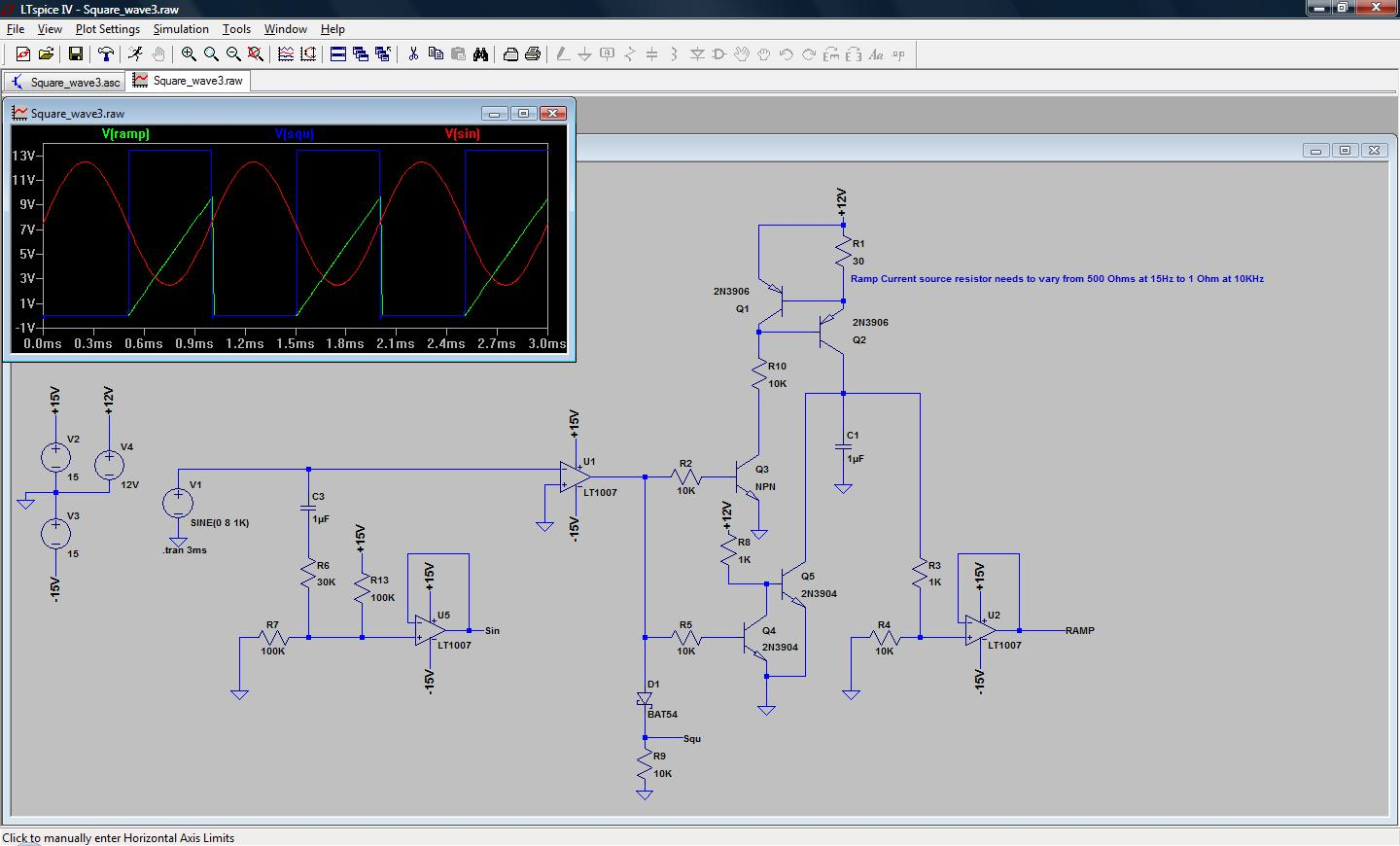 Square Wave Produces A Triangular Wave Practical Circuit Diagram Of