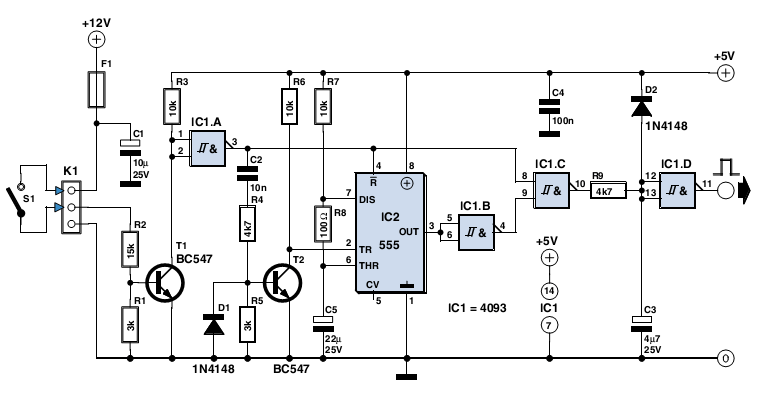 Switching Delay Used by 555 Timer IC under Repository
