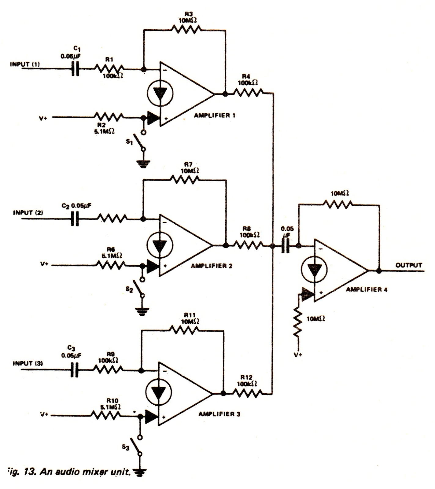 hight resolution of audio mixer circuit page 3 audio circuits next gr lm3900 audio mixer circuit amplifier circuit schematic projects