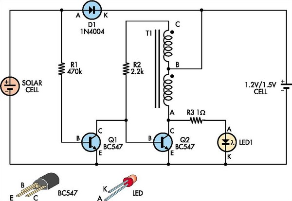 Automatic White-LED Garden Light under Repository-circuits