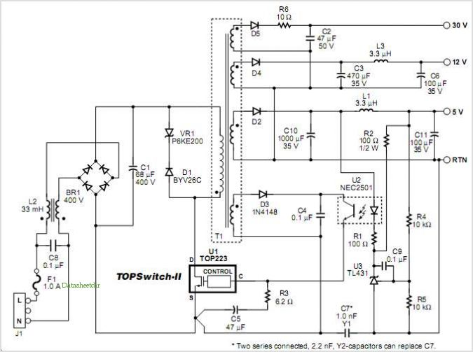 Designing Multiple Output Power Supplies With Topswitch