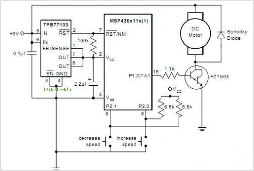 Pwm Dc Motor Control Using Timer A Of The Msp430 under
