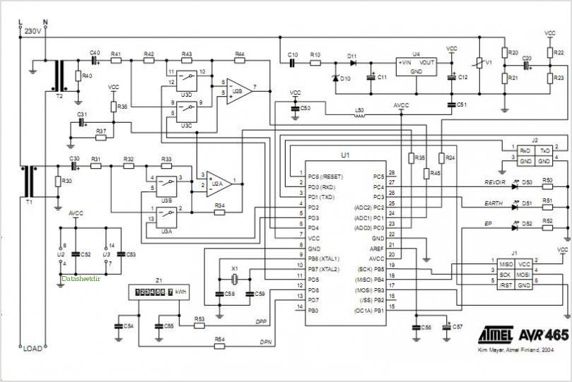 > circuits > single phase energy meter circuit diagram