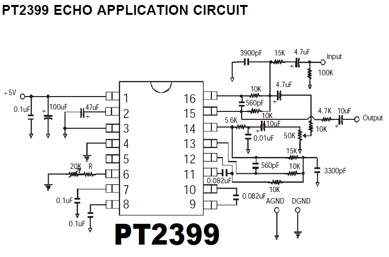 PT2399 Echo Application Circuit under Repository-circuits