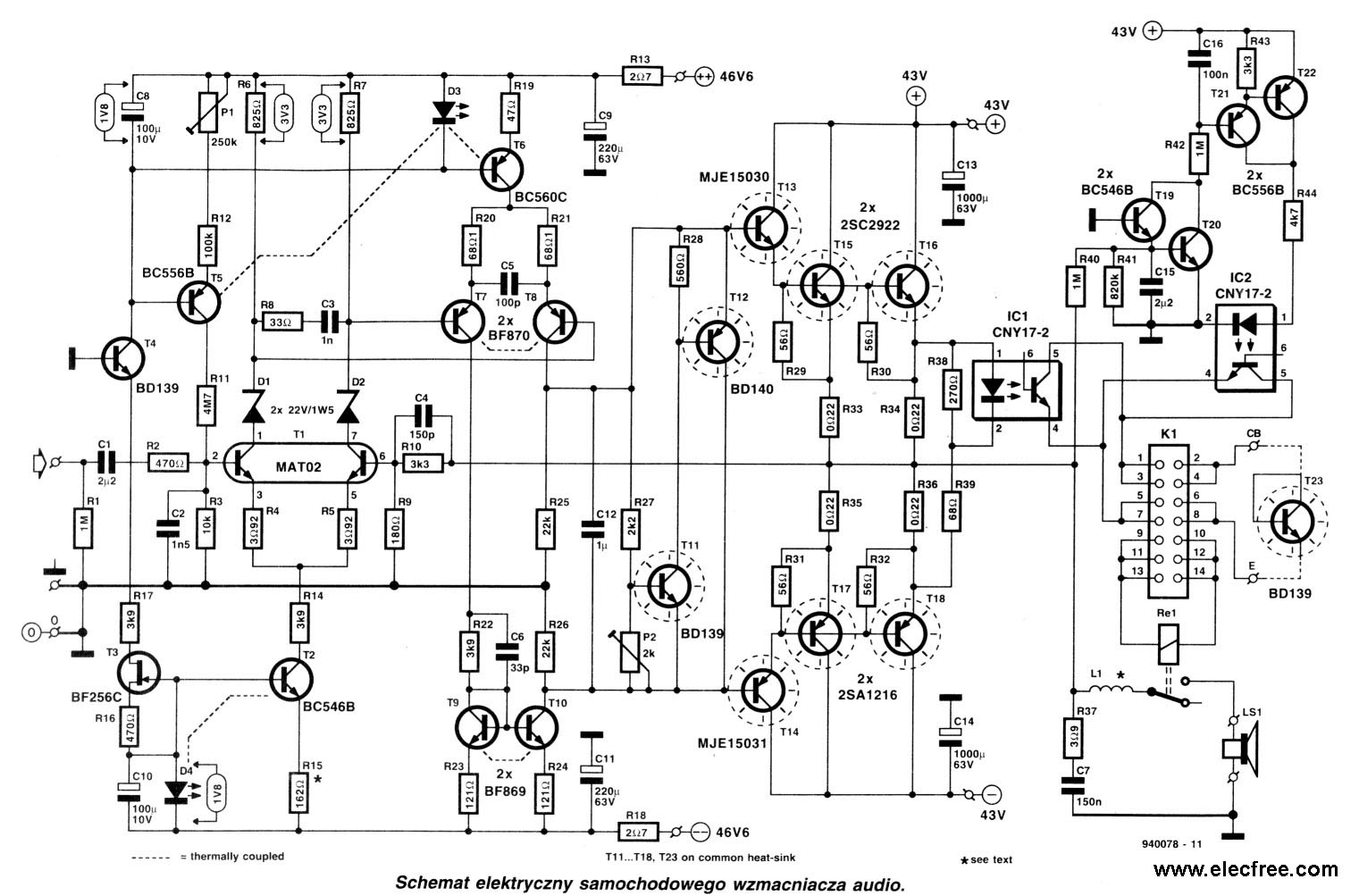 Audio Amplifier Circuit Page 14 Audio Circuits Next