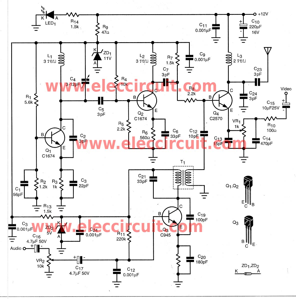 guitar wiring diagram generator 2007 gsxr 600 > circuits diy the wireless video audio signal sender circuit l40813 - next.gr
