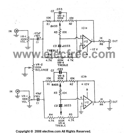 small resolution of three circuits of preamp tone controls by ne5532