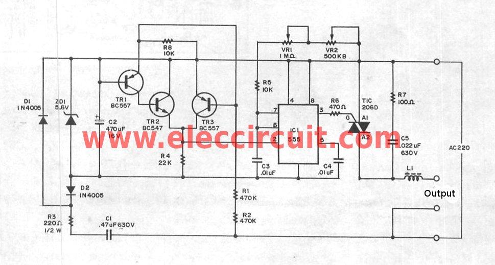 [DIAGRAM WL_1311] Ac 220 Volts Flashing Lamps Circuit