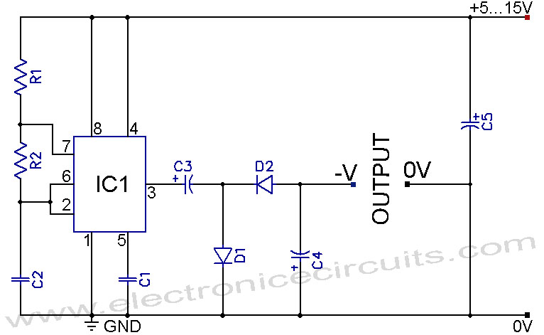 555 Negative Voltage Power Supply Circuit under Repository