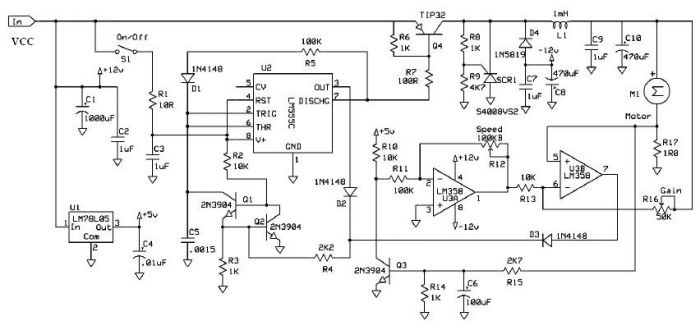 DC motor speed controller with 555 timer under Repository