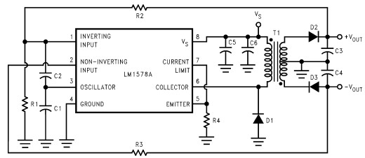 RS232 power supply circuit diagram electronic project