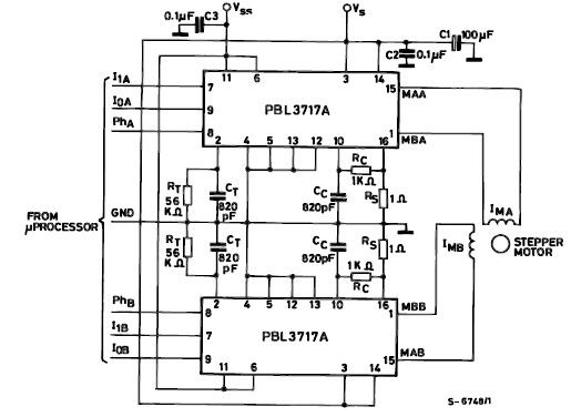 PBL3717A motor stepper driver circuit design electronic