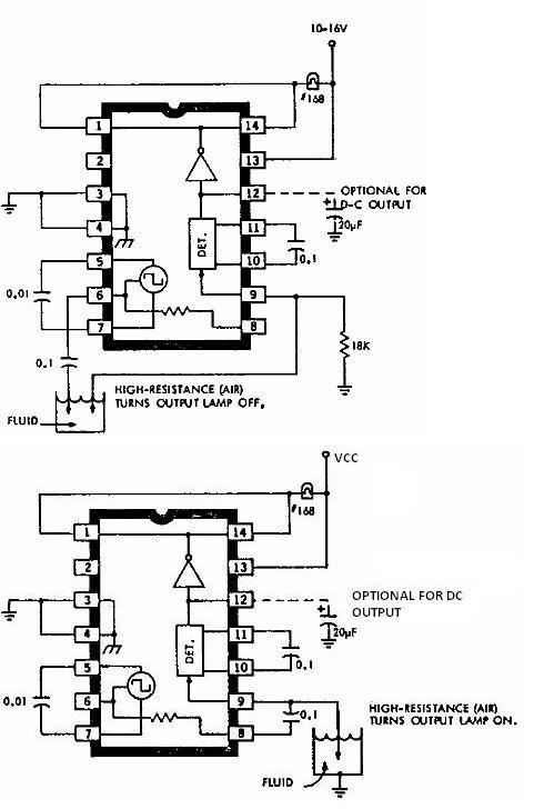 liquid sensor Circuit Page 3 : Sensors Detectors Circuits