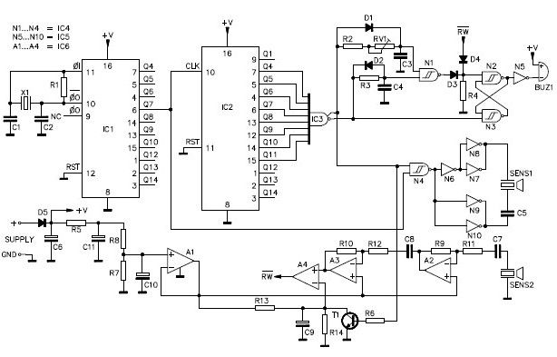 ultrasonic motion detector circuit diagram l6 30 plug wiring page 4 audio circuits next gr parking sonar design project