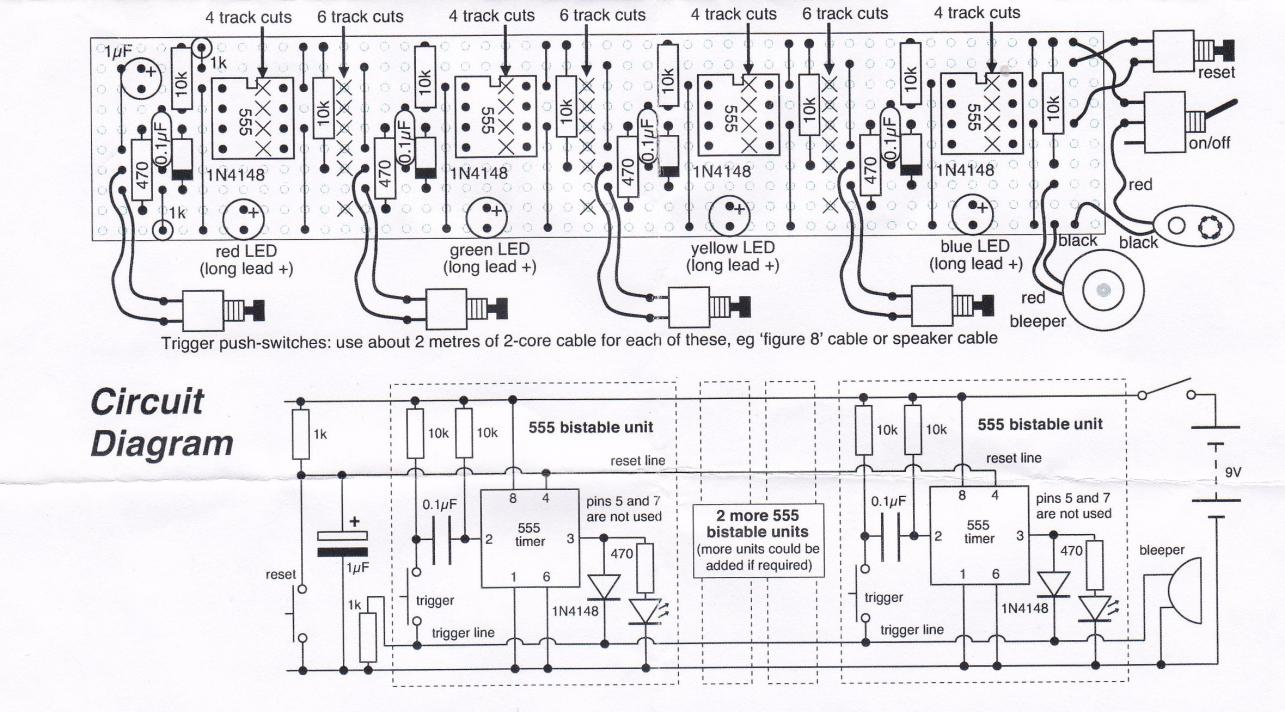 an electrical circuit quiz board