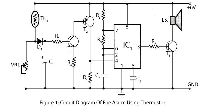 Fire Alarm Using Thermistor under Repository-circuits