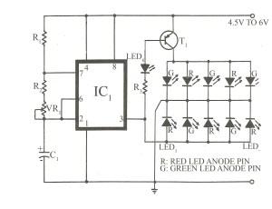 > circuits > Bicolour LED flasher circuit l26296  Nextgr