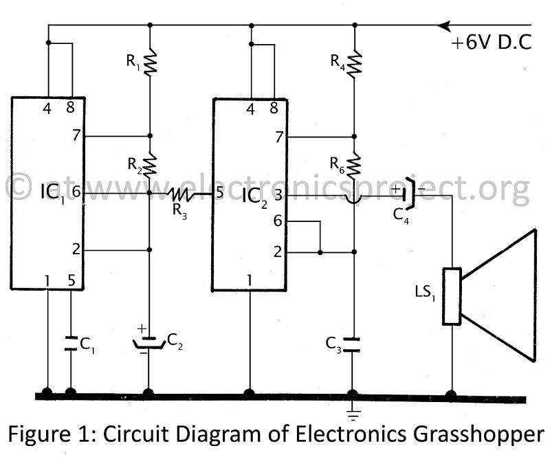 circuit diagram of electronics grasshopper