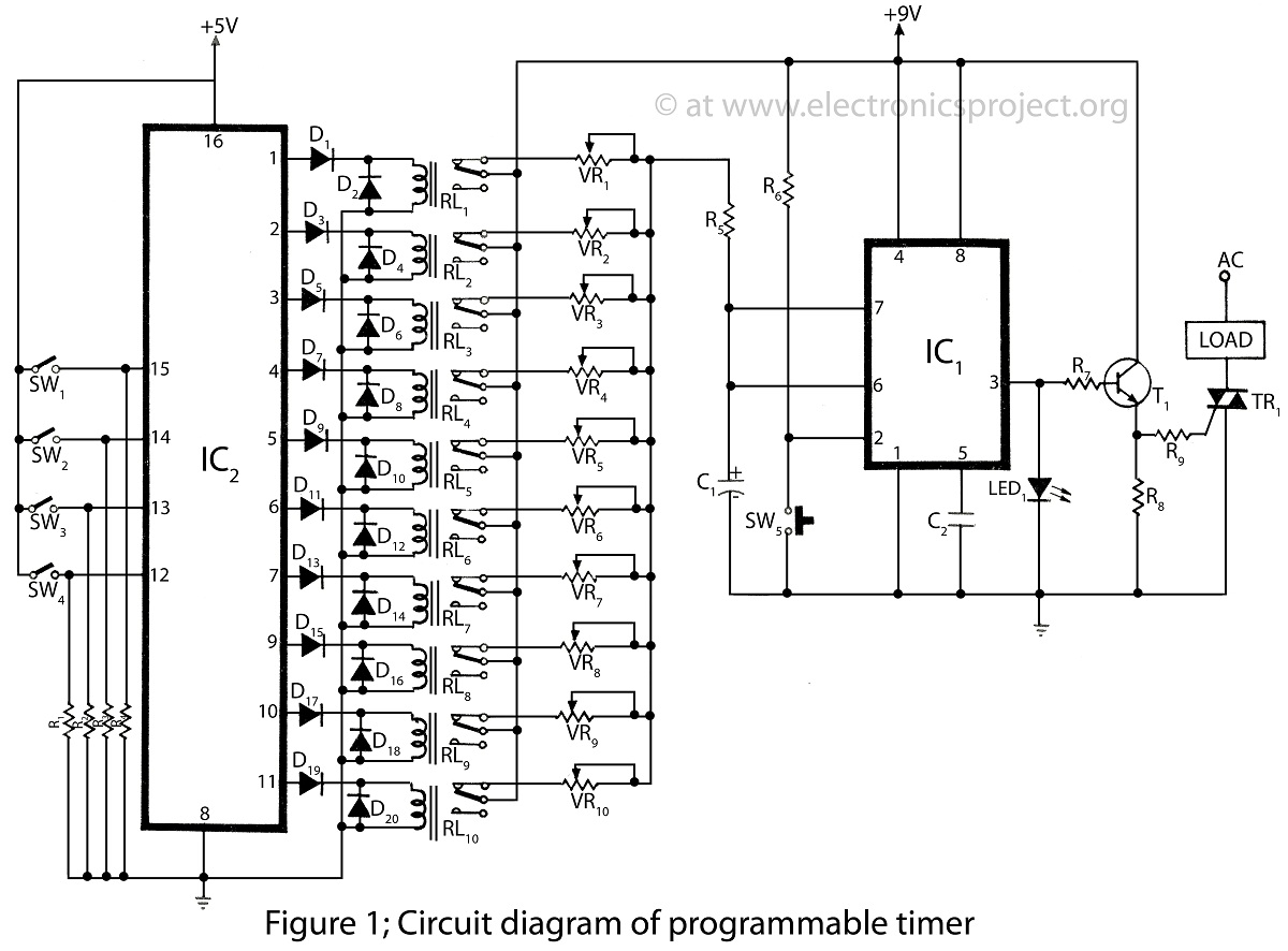 astable multivibrator circuit schematic