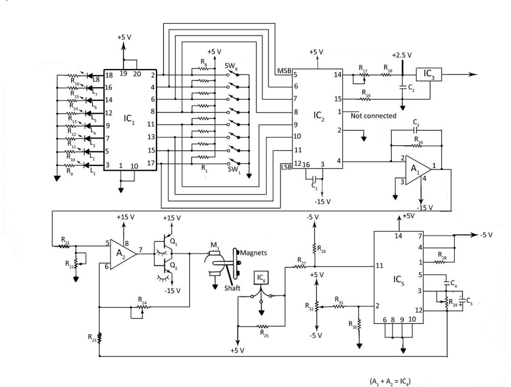 medium resolution of digital dc motor speed control with led display