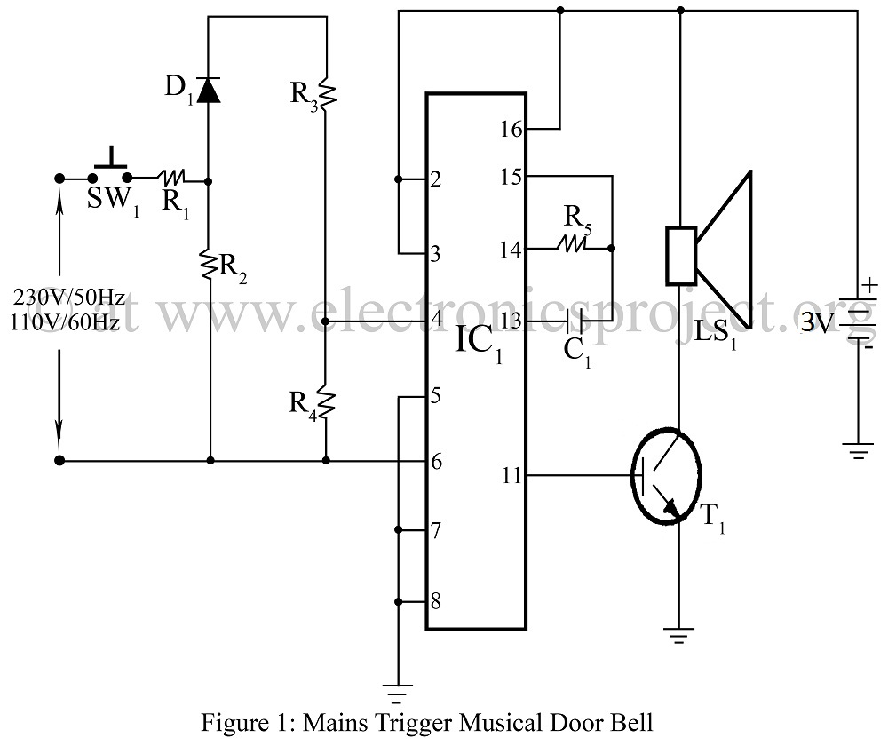 Mains Trigger Musical Door bell