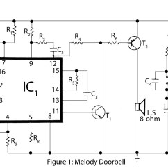 Simple Doorbell Circuit Diagram 220 Volt Motor Wiring Gt Circuits Advanced Melody L26332 Next Gr