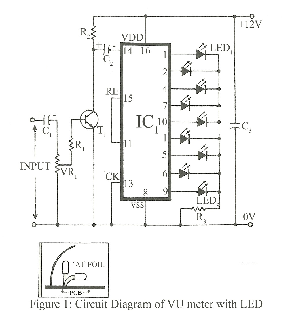 simple 10 led chaser with cd4017 schematic circuits