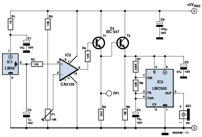 Latest Touch Alarm System Circuit Schematic