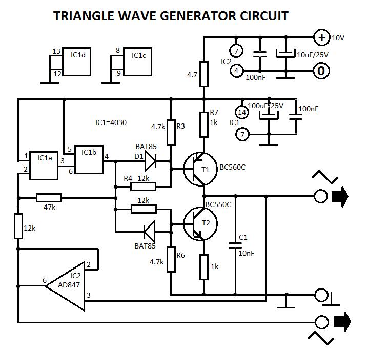 square wave oscillator circuit Page 2 : Oscillator