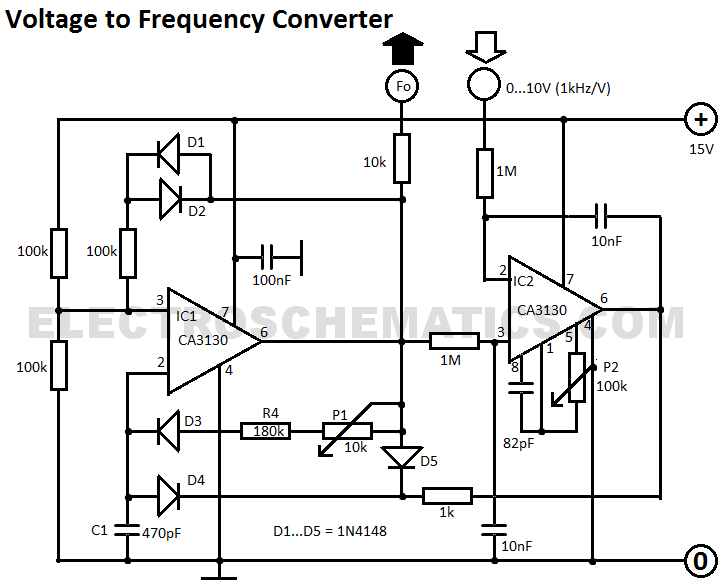 simple stand alone voltage to frequency converter using lm231 lm331