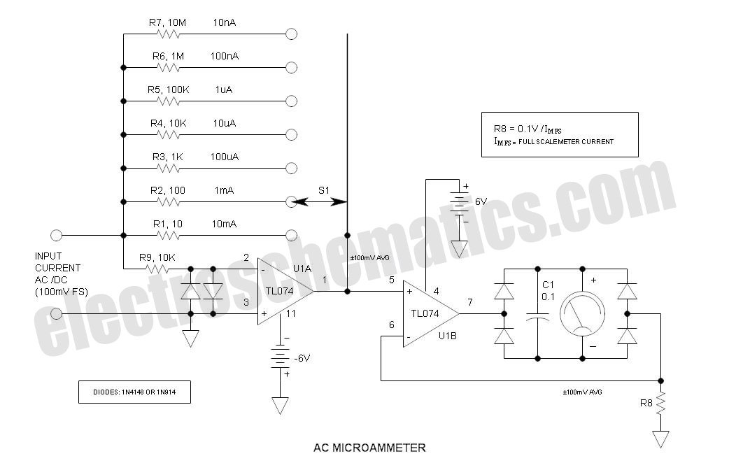 AC/DC Microammeter Circuit under Repository-circuits