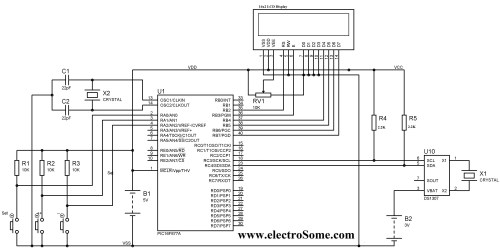 small resolution of digital clock pic microcontroller ds1307
