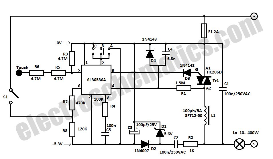 light dimmer circuit Page 4 : Light Laser LED Circuits