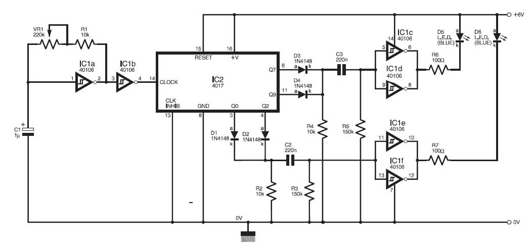 simulate the traffic light circuit electronic projects circuits