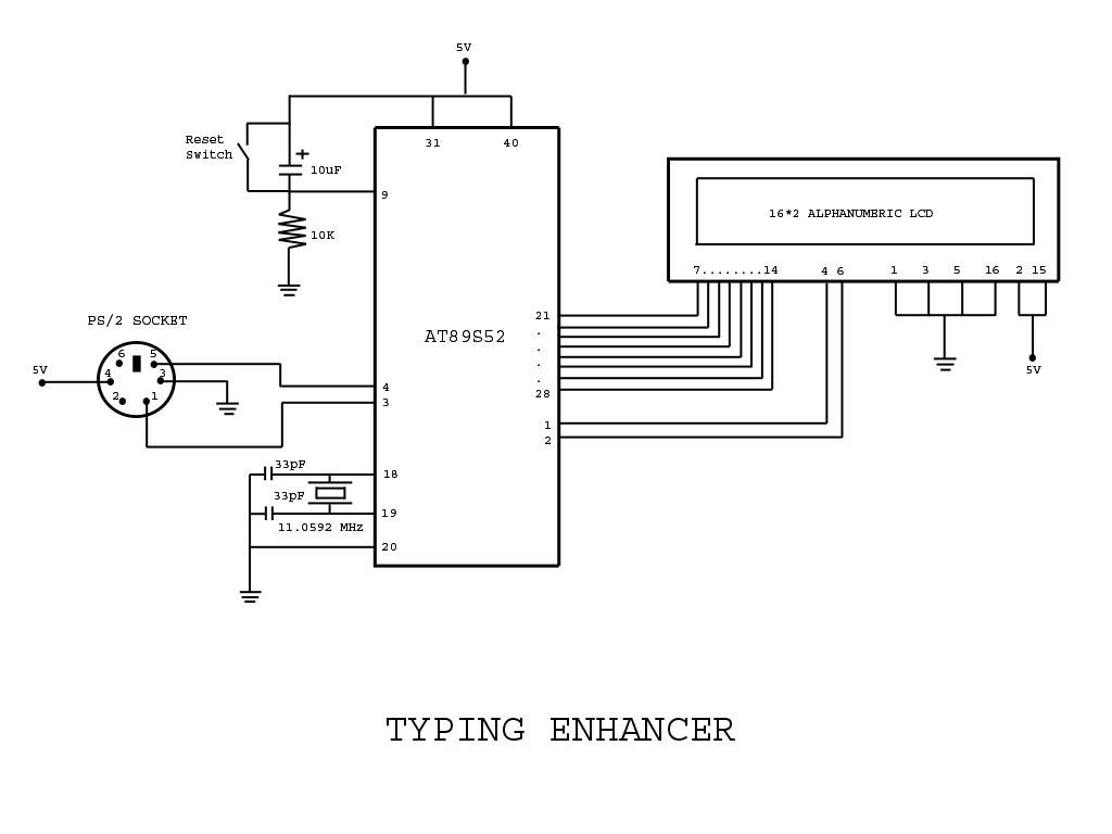 hight resolution of circuit code for typing assistant using 8051 microcontroller ps 2 port of computer