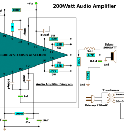 200 watt audio amplifier  [ 1426 x 760 Pixel ]