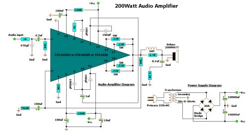 small resolution of 200 watt audio amplifier