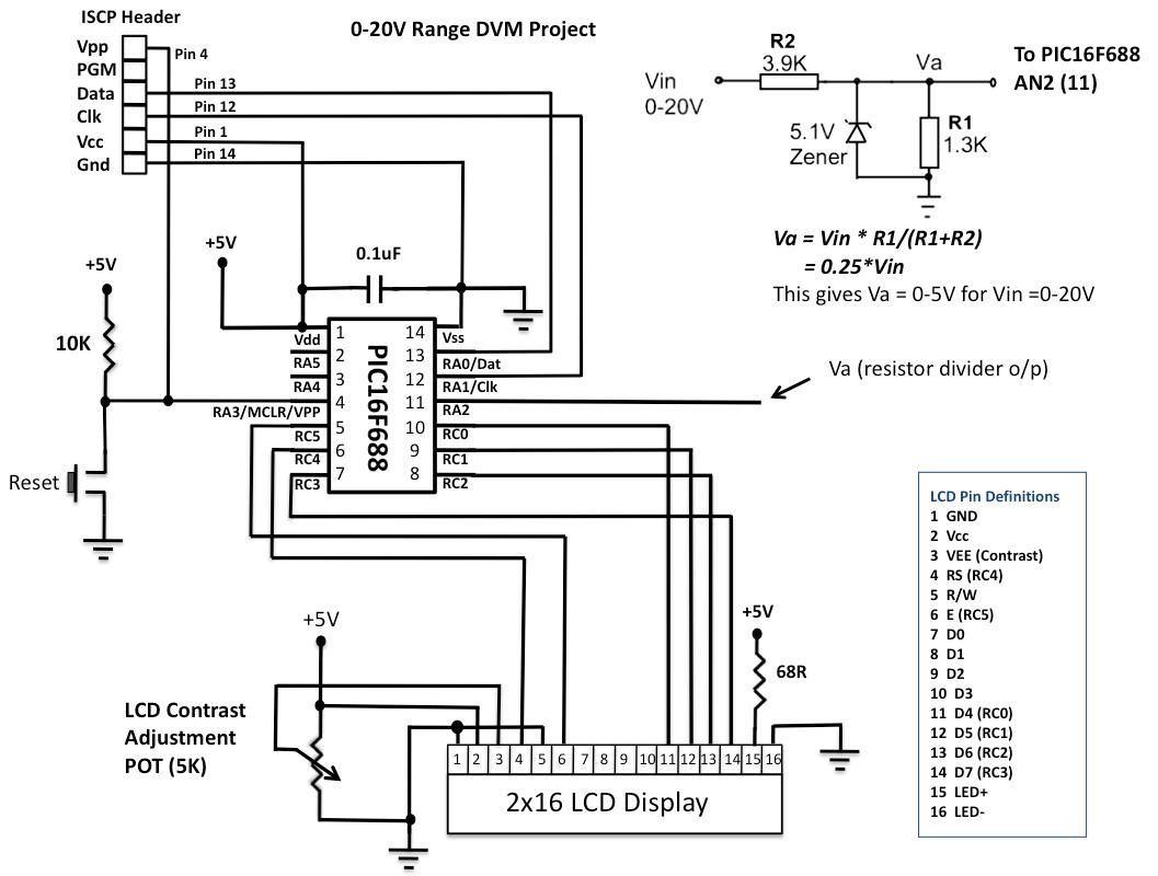 digital voltmeter wiring diagram lewis dot for sulfur gt circuits pic16f688 based l30800