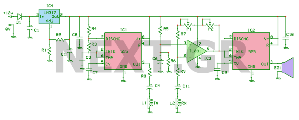 medium resolution of induction balance gold metal detector circuit under metal detector pin metal detector circuit diagram free download image search results