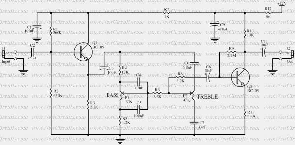 baxendall tone control circuit