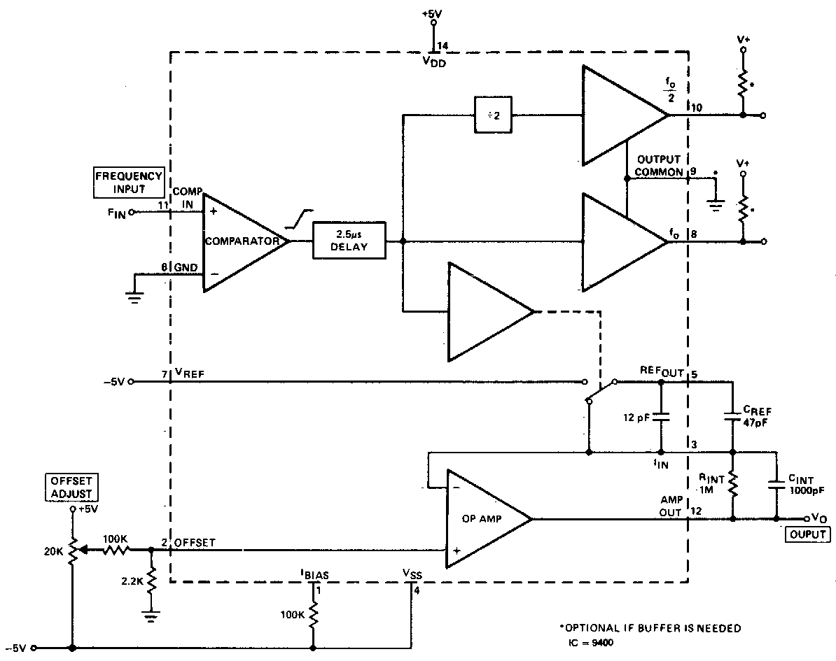 hight resolution of dc 10khz frequency voltage converter