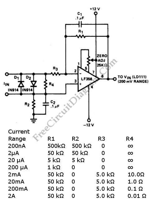 current to voltage circuit : Converter Circuits :: Next.gr