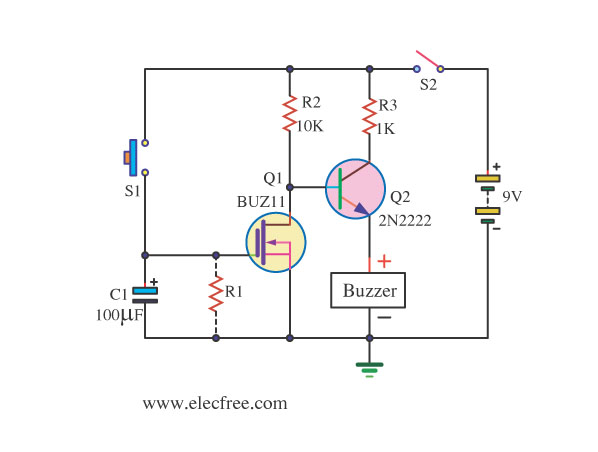 This simple mosfet power audio amplifier circuit with