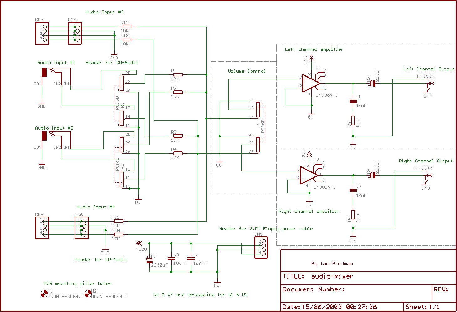 hight resolution of mixer schematic