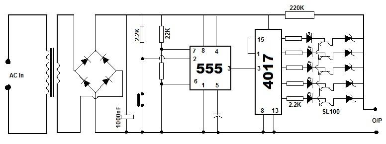 Multipurpose Battery Eliminator Circuit using 4017 Decade